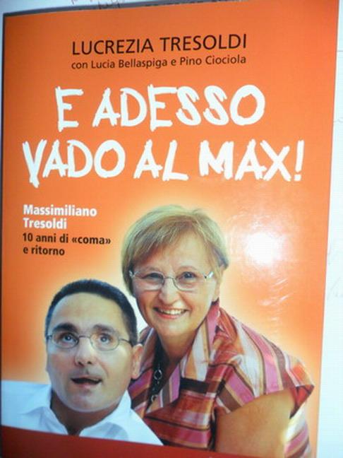 30 marzo 2012 Bologna. La copertina del libro ''E adesso vado al Max''