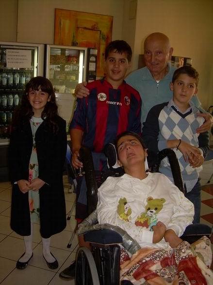 Ospedale di Santa Viola, Bologna, 18 novembre 2009: Cristina, Romano Magrini, Cesare Augusto e Bernardino Berardi, Beatrice Zanzi.