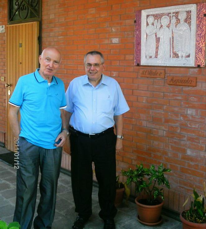 25 luglio 2012 Bologna, Romano Magrini a Villa Pallavicini per sistemare l'appartamento dove da settembre andrà ad abitare con Cristina
