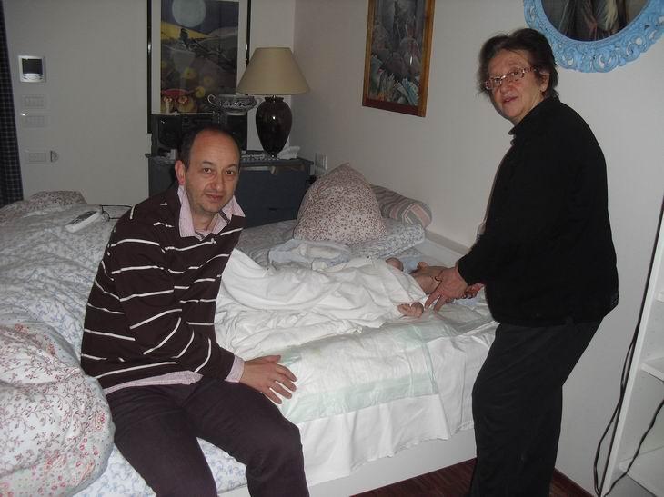 3 dicembre 2010 - Loiano: incontro tra Silvana Bigi, mamma di Timoteo, e Edoardo Basciani, papà di Davide. Entrambi si sono rapportati con Romano Magrini per introdurre nella terapia dei figli il metodo Doman.