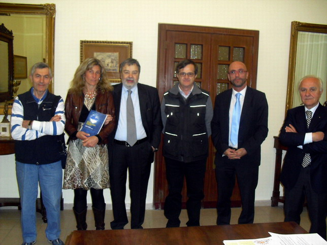 15 aprile 2011 Collegio San Luigi. Da sinistra Faustino Quaresmini, Cristina Segafredo, Pierluigi Visci, Enrico Vigano', Massimo Pandolfi, Gianluigi Poggi.