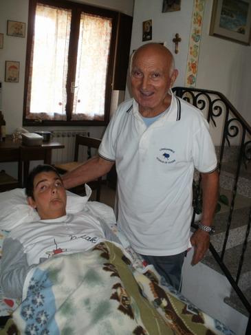 2 settembre 2011. Cristina e Romano Magrini la mattina dopo la colazione in casa a Sarzana.