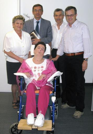 7 settembre 2011. Giulio Boscagli, Assessore alla Famiglia della Regione Lombardia, ha incontrato Moira Quaresmini, i suoi genitori Faustino e Giovanna ed Enrico Viganò, autore del libro ''Il sorriso di Moira''.