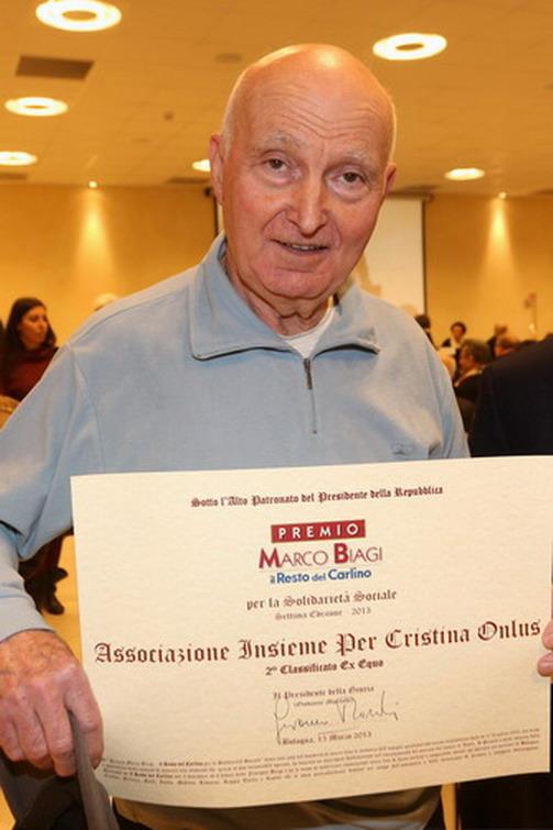 16 marzo 2013 Bologna. Premio Marco Biagi. L'importante riconoscimento è stato assegnato all'Associazione 'Insieme per Cristina.