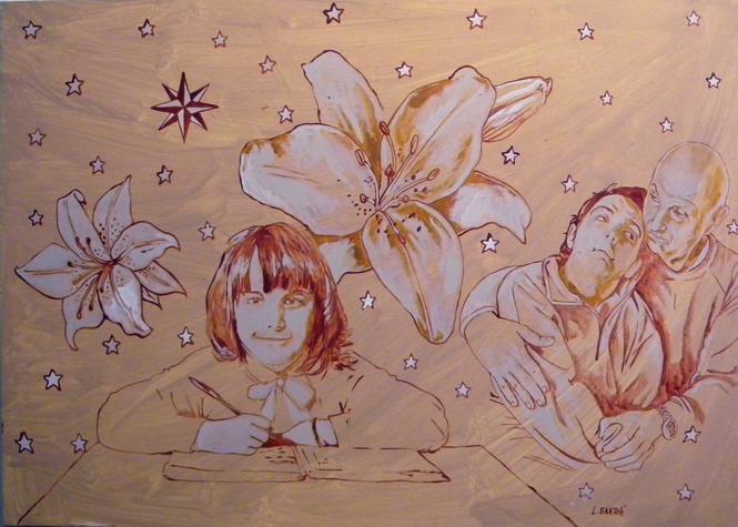 20 ottobre 2011. L' artista Leonardo Santoli, commosso dalla storia della famiglia Magrini, ha donato un ritratto di Cristina e Romano Magrini.