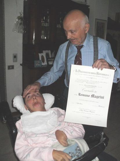 26 novembre 2011. Sarzana - A Romano Magrini il Presidente della Repubblica conferisce il cavalierato