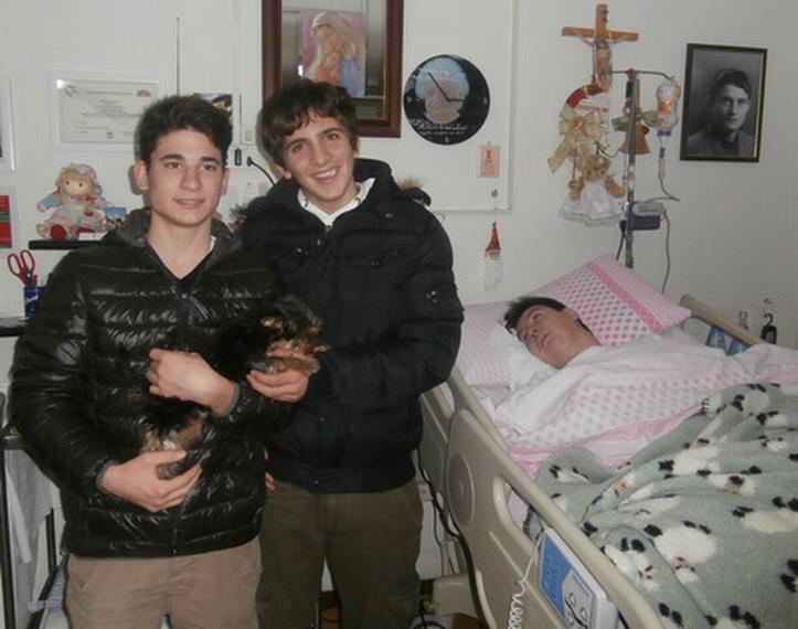 31 dicembre 2013. A casa di Barbara. In attesa della notte di Capodanno Bernardino e Agostino con Pepe e Barbara