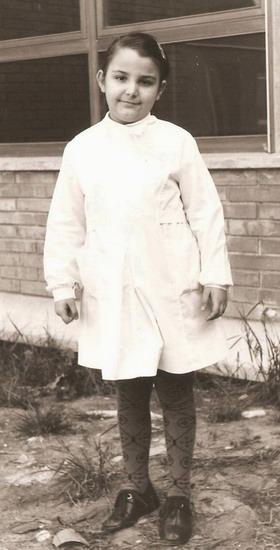 1974 Cristina a otto anni in quarta elementare