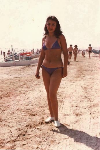 1980 Cristina a 14 anni in villeggiatura al mare