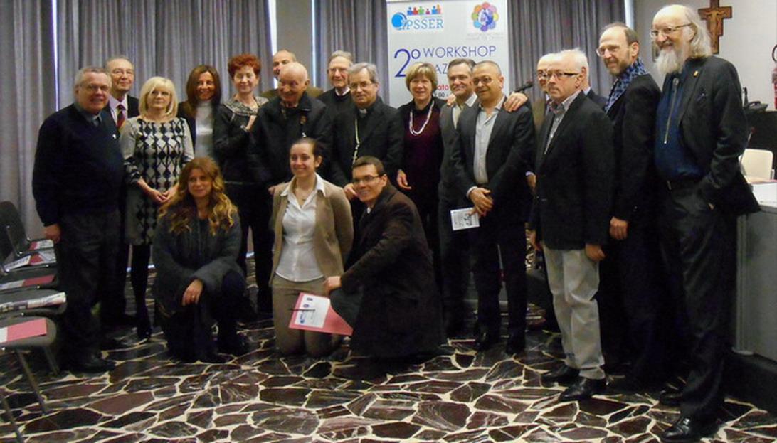 14 marzo 2015 Bologna - Foto di gruppo dei relatori del ''Secondo Workshop Nazionale sugli stati di minima coscienza''